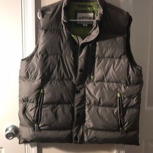 Orvis men's gray puffy vest